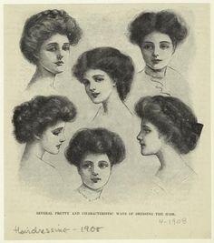 coiffure femme 1908