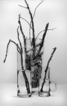 "Sticks and Stones"" Pencil on paper    - Armin Mersmann"