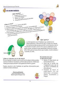 Experimentos para niños de preescolar by Gloria Salazar - issuu