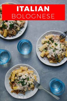 This easy rigatoni bolognese recipe is perfect for a weeknight meal and freezes beautifully. Bolognese is a classic Italian recipe, the sauce can be made in advance and brought out last minute. Using ground meat and vegetables it's a hearty comfort food with tomatoes. #pasta #easyrecipe #easydinner #Italian #Italy #groundmeat #onepot Recipes Using Pasta, Noodle Recipes, Easy Recipes, Italian Dishes, Italian Recipes, Easy Weeknight Meals, Easy Meals, Around The World Food