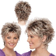 try on hairstyles free for women over 50 - Yahoo Image Search Results - Short Hair Styles Short Shag Hairstyles, Short Haircut Styles, Short Layered Haircuts, Try On Hairstyles, Thin Hair Haircuts, Short Hairstyles For Women, Messy Short Hair, Curls For Long Hair, Short Hair With Layers