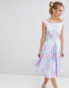 Image 1 ofASOS SALON Beautiful Jacquard Prom Midi Dress