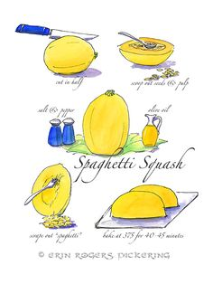 Recipe Art  Spaghetti Squash
