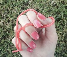 Nails + Strawberry laces 💅🏼🍓