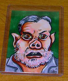 GRIMM SKETCH CARD 1 ONE OF A KIND FULL COLOR BAUERSCHWEIN PIG ORIGINAL SCHERES