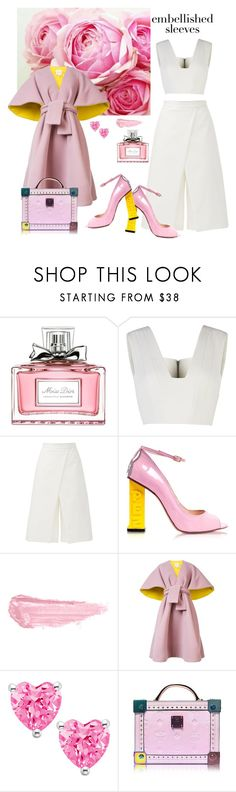 """""""Untitled #9"""" by tato-eleni ❤ liked on Polyvore featuring Christian Dior, BCBGMAXAZRIA, TIBI, Camilla Elphick, By Terry, Delpozo and MCM"""