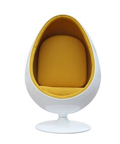 Dimensions in inches: 52h x 36w x 36d Color: White Finish: Fiberglass White Shell Primary Material: Cotton The fiberglass Egg Chair remains cutting edge in its design.