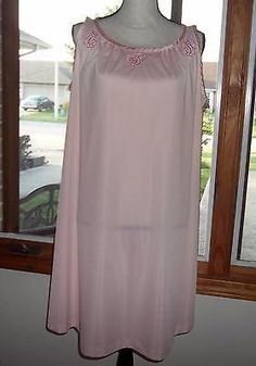 VTG Gossard Artemis Womens Size Small Pink Embroidered A Line Nylon Nightgown  | eBay