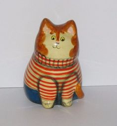 Special Piece of Joan & David De Bethel Rye Sussex Papier Mache Cat 'FRED' 1976 | eBay
