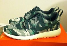 brand new b903c a54d9 Nike Roshe Run Ripstop Tiger Camo Detailed Pictures