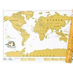 Carte a Gratter 80 x 40 cm Carte du Monde /à Gratter Mappemonde /à Gratter Rose Scratch Off Travel Map Poster Carte du Monde