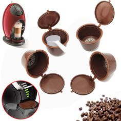 Cheap capsule size, Buy Quality capsule toy vending machine directly from China capsule cover Suppliers: 4 Pcs/Set Dolce Gusto Coffee Capsule Plsatic Refillable Coffee Capsule Reusable 200 Times Compatible with Nescafe Dolce Gusto