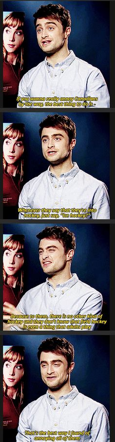 Funny pictures about How To Annoy Canadians By Daniel Radcliffe. Oh, and cool pics about How To Annoy Canadians By Daniel Radcliffe. Also, How To Annoy Canadians By Daniel Radcliffe photos. Fandoms, We Are Bears, Quotes Girlfriend, Bae, No Muggles, Marcus Butler, This Is A Book, You Got This, Jc Caylen