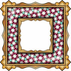 ArtbyJean - Paper Crafts: ---FRAMES - Gold Edged Square