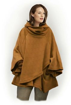 Poncho With Hood - Sewing Pattern #5798