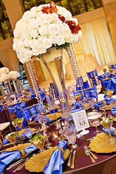 Tall Floral Centerpieces Wedding | beautiful tall flower centerpiece