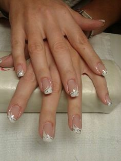 Manicure Elegant - Fingernägel - # Elegant # Fingernägel Shine Is The Key To Healthy-Looking Hair Wh French Tip Nail Designs, French Nail Art, Nail Art Designs, Bridal Nails French, French Manicure Nails, Gel Nail Art, Acrylic Nails, Cute Nails, Pretty Nails
