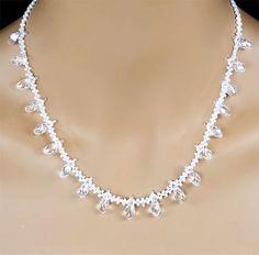 Vintage Inspired Swarovski Crystal Bridal Statement Necklace