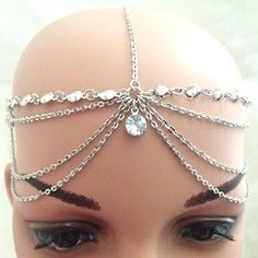 Princess Silver Head Chain by DaintyGardenShop on Etsy
