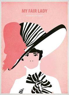 "My Fair Lady  Movie Film  Pop Art Print  Canvas  Framed 24/"""