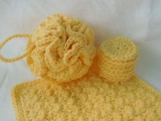Cotton Bath Gift Set Yellow Cotton Spa Bath Kit by QueenBsBusyWork