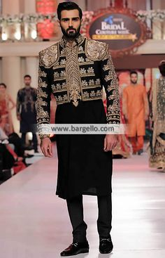 M966 HSY Sherwani Suits Mens Sherwani Suits - UK USA Canada Australia Saudi Arabia Bahrain Kuwait Norway Sweden New Zealand Austria Switzerland Germany Denmark France Ireland Mauritius and Netherlands