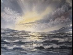 Quick and simple way to paint waves and the sea in watercolour - YouTube