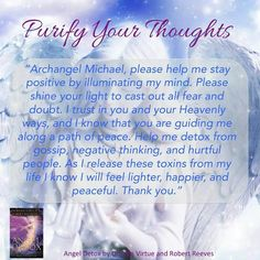 Purify thoughts prayer by Doreen Virtue