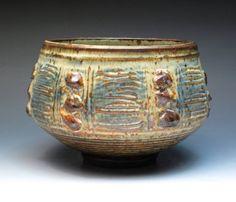 Otto Heino Large Stoneware Bowl Legandary Potter by MugsMostly