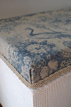 Lloyd Loom Blanket Box - After                                                                                                                                                     More