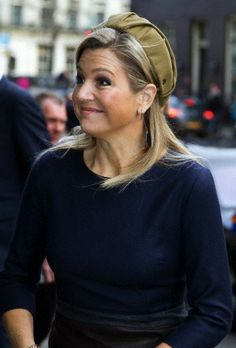 Queen Máxima, February 13, 2014 in Fabienne Delvigne   The Royal Hats Blog