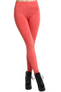 Pink Skinny Leggings #Romwe