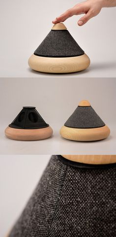 'Hype' is an omni-directional, compact, hi-fi speaker that packs a powerful punch despite being so simple, minimalistic in raw wood and fine fabric, it's one you'll  want to keep on display... READ MORE at Yanko Design !