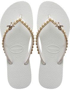9f9b70e4efa211 Havaianas with gold bows  lt 3 Wedding Flip Flops