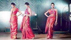 Beautiful pink and gols saree - Jayalakshmi silks