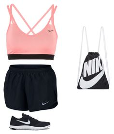 """For The gym "" by miranda-mardini on Polyvore featuring moda y NIKE"