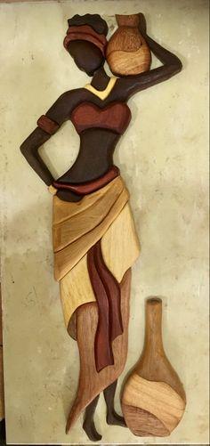 Afrique Art, African Art Paintings, Clay Wall Art, Art Corner, Wooden Art, Retro Art, Fabric Painting, Bead Art, Cute Art