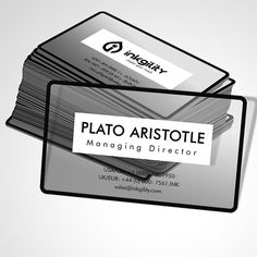 Transparent #BusinessCards from @inkgility