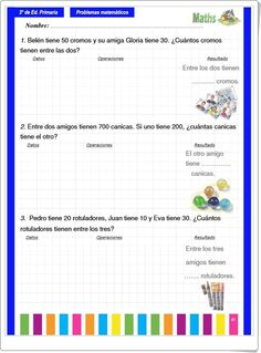 Cuaderno de Problemas de 3º de Primaria Math Sheets, Learning Spanish, Homeschool, Writing, Luigi, Content, Latin Music, Medicine, Activities