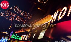 Downtown Disney at night <3 Parents, kids, grandparents all can find their hearts desire at Downtown Disney and Disney marketplace!  The world's largest Disney store, woman take the plastic, ok men too.  You won't be able to resist, so take advantage of Disney's service to ship your purchase home or just back to your room. Yes, that's correct no bags to carry!!!!!