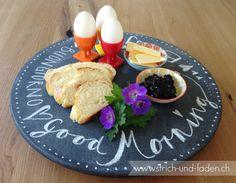 Drehteller Guten Morgen mit Tafelfarbe |Good Morning |Bonjour