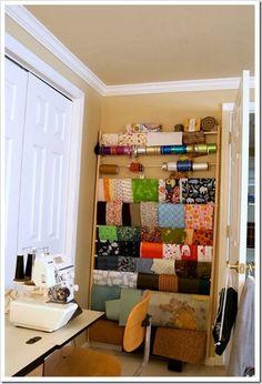 Fabric behind a door