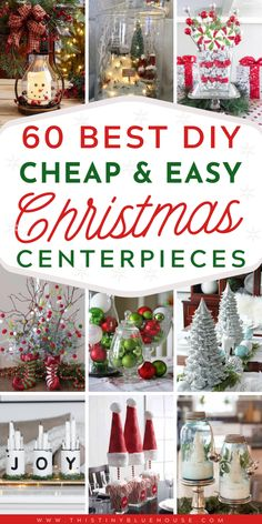 Festive DIY Christmas Centerpieces - This Tiny Blue House - - Glam up your mantel, coffee & dining table with these DIY Festive Christmas Centerpieces. From traditional to rustic there's a centerpiece to fit any style. Homemade Christmas, Diy Christmas Gifts, Rustic Christmas, Christmas Projects, Simple Christmas, Christmas Decorations, Diy Christmas Centerpieces, Christmas Ideas, Blue Centerpieces