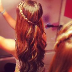 Curls with braids