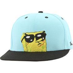 BAIT x SpongeBob Sunglasses Snapback Cap (tiffany / black) SPSUNGLASSCAPTBK - $26.00