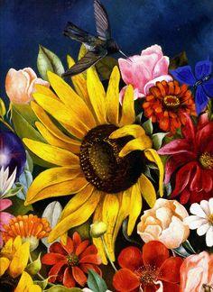 1941 Frida Kahlo Panier de fleurs, Détail l'oiseau, Basket of flowers, Detail the bird | #art #Mexico @deFharo