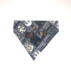 Pet Accessory - Star Wars Character Tiles Gray - Over the Collar - Customs - Bandana, Bow Tie, Neck Tie, Flower by HemptressDesigns on Etsy