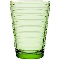 Iittala Aino Aalto Tumblers - Apple Green - Set of 2 - Large (36 CAD) ❤ liked on Polyvore featuring home, kitchen & dining, drinkware, green, glass glassware, iittala, green glassware, colored glassware and colored glass tumblers