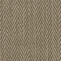 "This herringbone nylon carpet design is sophisticated and soft but has the look and feel of ""rustic""...without the ""roughness"". 100% Anso nylon by Shaw Floors ""Turtle Cove"" color Dune."