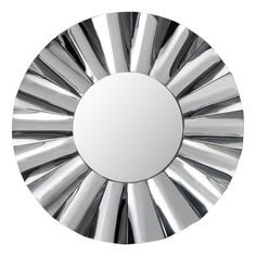 Wavy Mirror. Wavy mirror is created by soft pleating on round reflective frame. Add to a modern vanity or living room for fun updated look. Mirror color options: gray, clear or black. Each mirror features brackets for hanging and wire included.